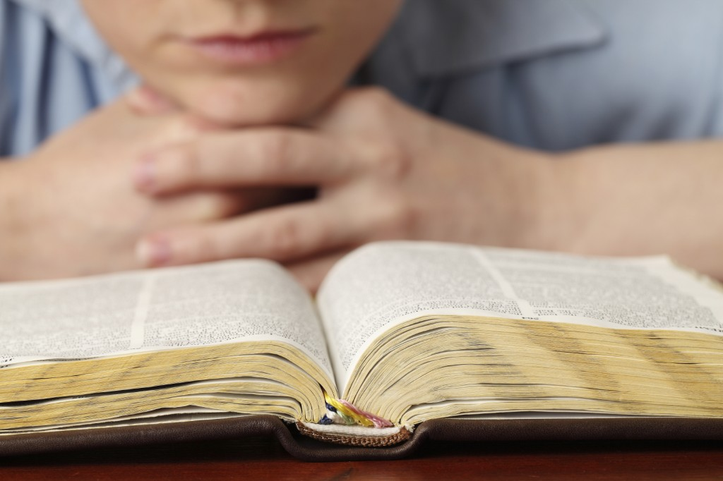 Girl & Bible
