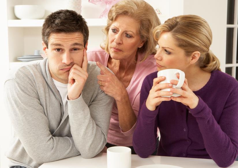 Family arguing