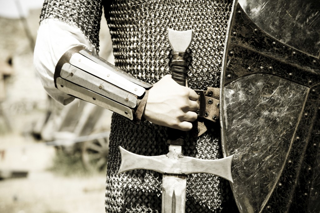 man in suit of armor