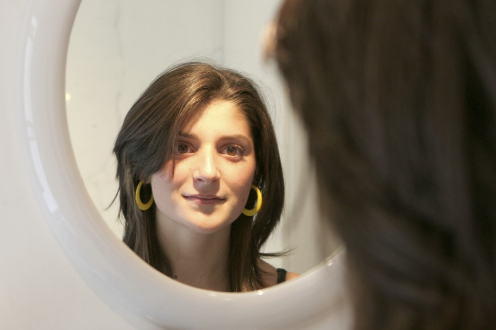 woman in a mirror