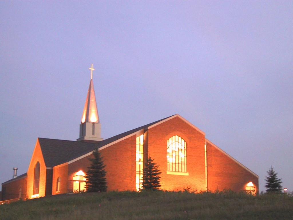 new church - evening