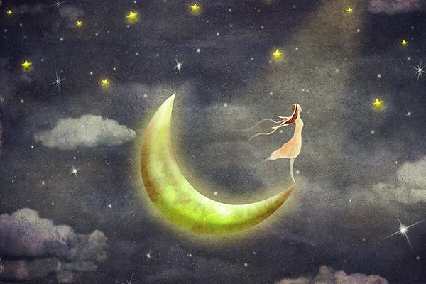 Girl on Moon
