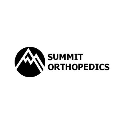 Black and White Mountain Summit Orthopedics logo