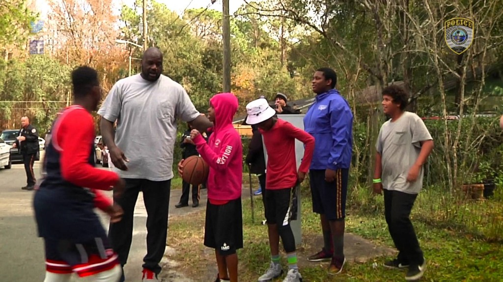 A police officer responds to a call of teenagers playing basketball loudly.  What he does next makes him a hero!