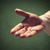 Hand of God reaching out