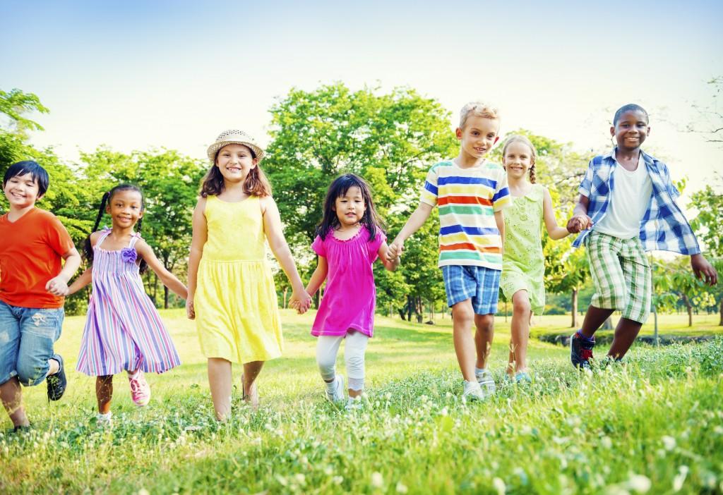 Children Kids Friendship Walking Happiness Concept