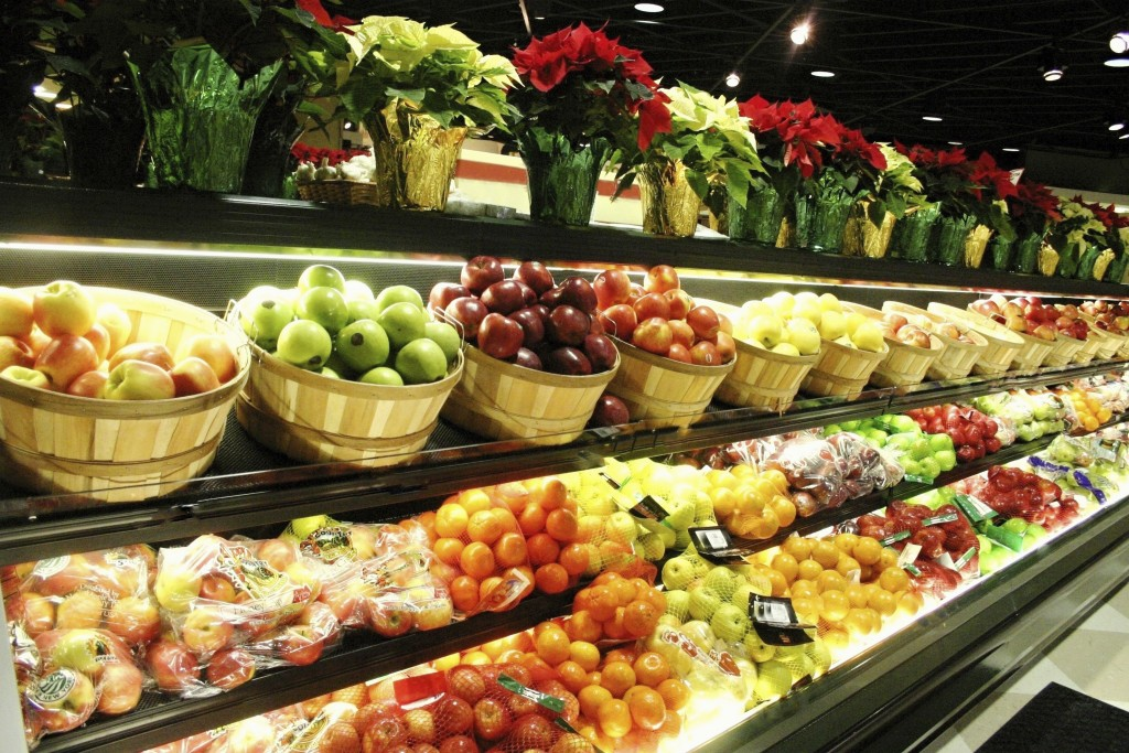 Fruit in a grocery store