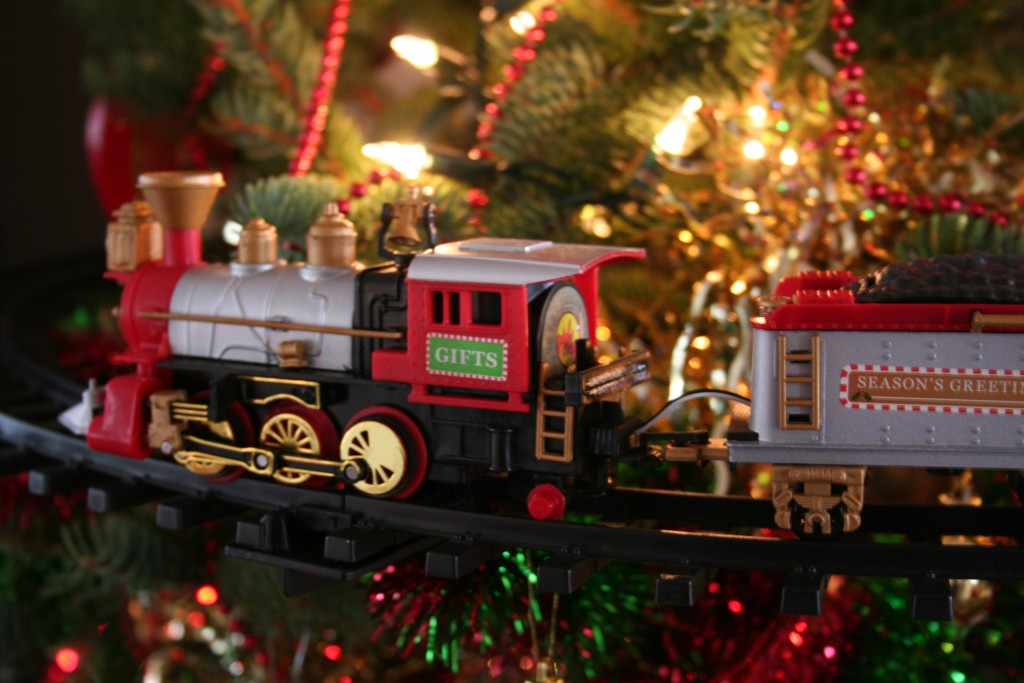 toy train Christmas tree decoration