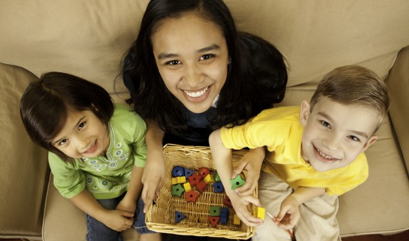Childcare Baby Sitter with Two Children