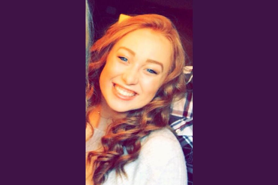 Smiling teenaged girl