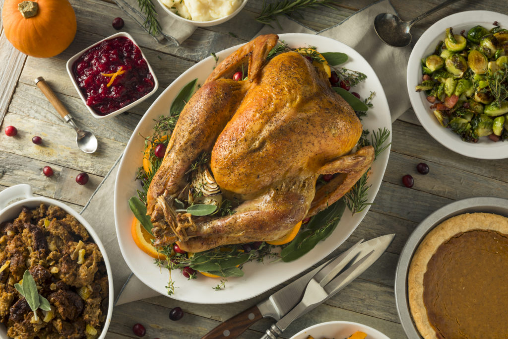 Organic Free Range Homemade Thanksgiving Turkey with Sides