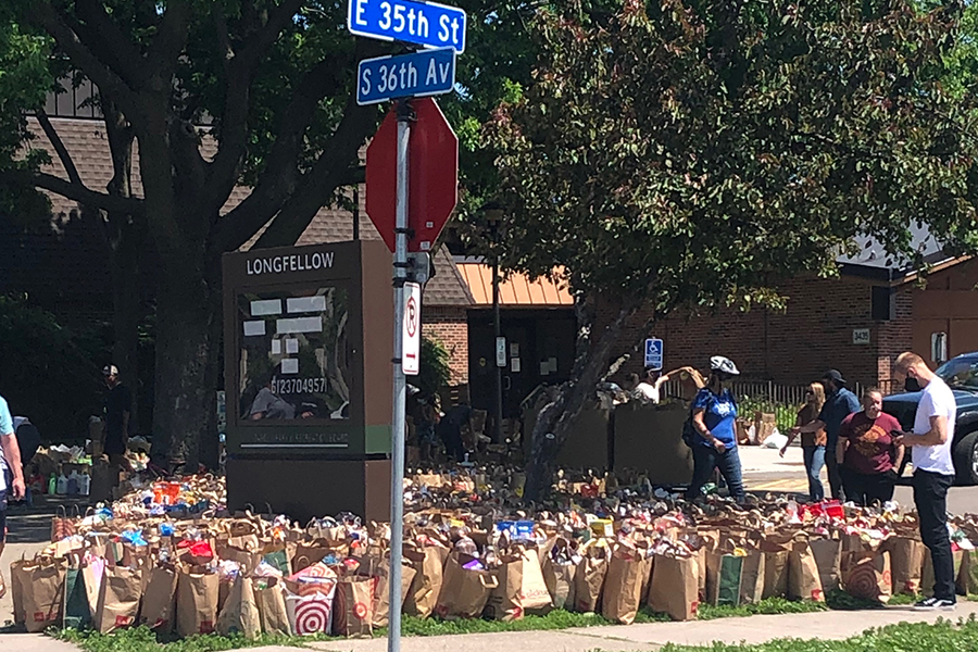 Food donations in Minneapolis