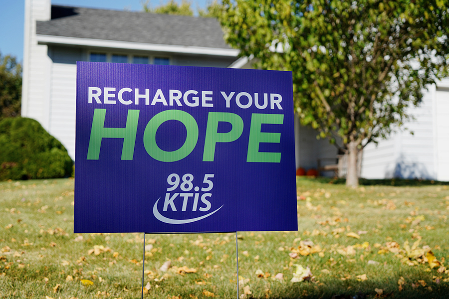 Recharge Your Hope yard sign