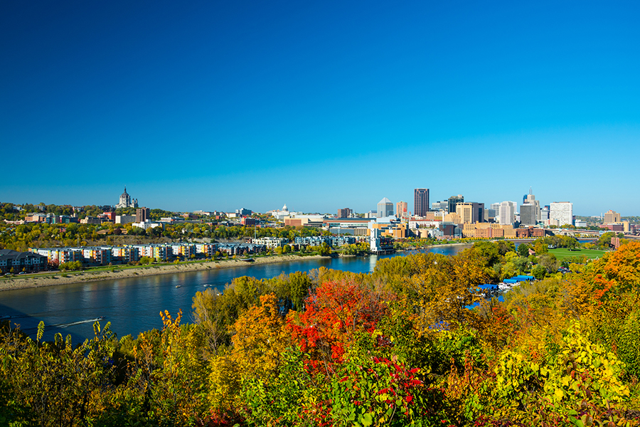 St. Paul, MN in autumn