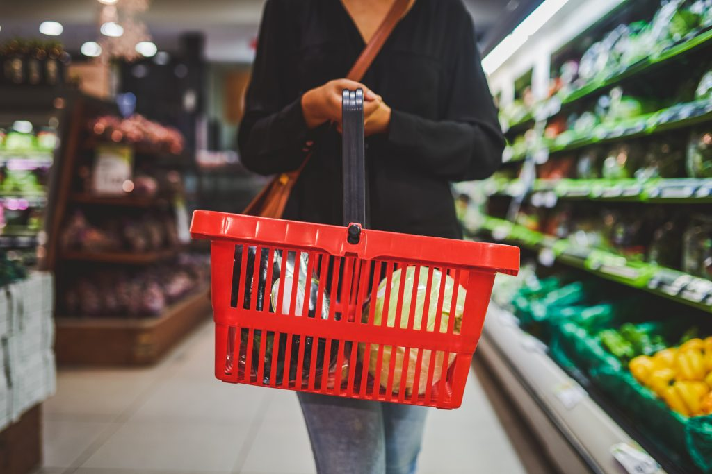Cropped shot of a woman shopping in a grocery store
