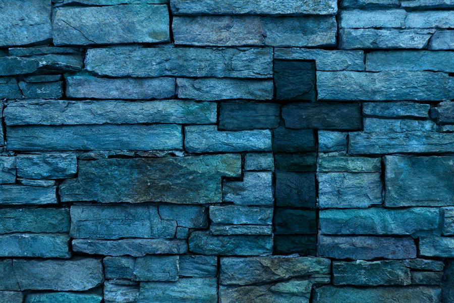 A cross made of bricks
